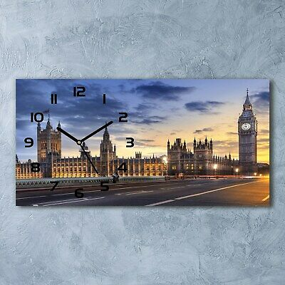 Glass Wall Clock 60x30 Big Ben London