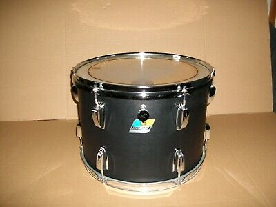 Ludwig 14 Inch 76 Black Panther 6-Ply 77 78 Tom Drum 10 X 14 Blue Olive Badge