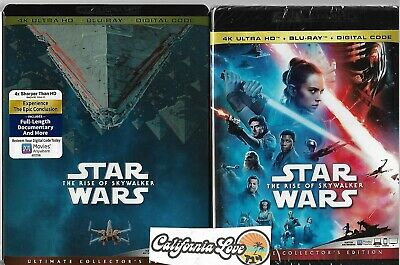 Rise Of Skywalker 4K Ultra Hd + Blu-Ray + Slipcover Star Wars ✔☆Mint☆✔No Digital
