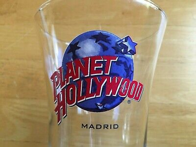 Planet Hollywood Madrid Hurricane Style Beer Beverage Cocktail Glass