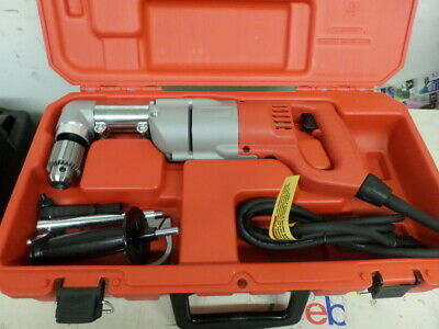 Milwaukee 1107-2 heavy duty 2 speed right angle drill in case /accessories never