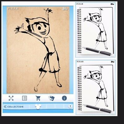 Joy-Inside Out Sketches Motion+2 Standard-Topps Disney Collect Digital