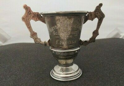 Vintage Sterling Silver Small Trophy, engraved St. Mary's College Union Golfing