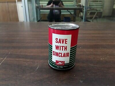 vintage metal save with sinclair extra duty motor oil bank