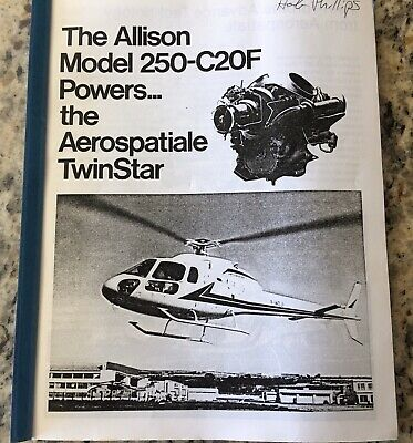 Maintenance Training Manual Allison Rolls Royce 250 Engine TwinStar Helicopter