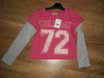 Next girls layered look t-shirt tunic top AGE 3 years BNWT  pink & grey x