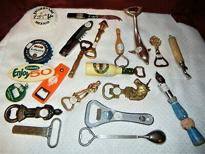 Bottle Openers Advertising Large Lot Great Selection Total 21 Pieces
