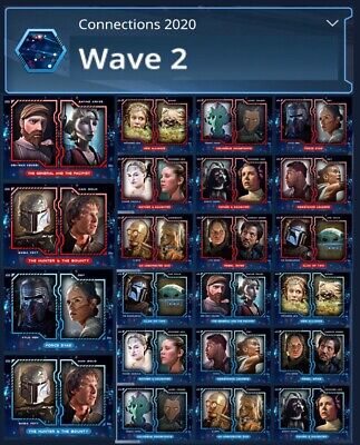 Connections 2020-Wave 2-Red+Blue 22 Card Set-Topps Star Wars Card Trader Digital