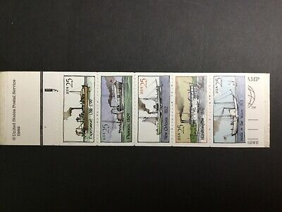 US Scott # 2405-09 Booklet Pane Of 5 Stamps MNH, Steam Boats