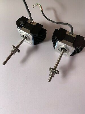 2x ElectroCraft Stepper Motor Linear Actuators with Ballscrew Nuts