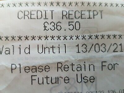 Marks And Spencer Credit Note  £36.50
