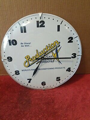 """12"""" Bubble Glass Automobile Advertising Clock Production Car Care Products Works"""