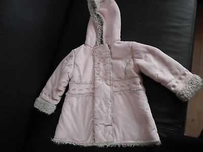 Baby Girl Clothes Winter Jacket Coat, MOTHERCARE Light Pink 18-24 months   (111)