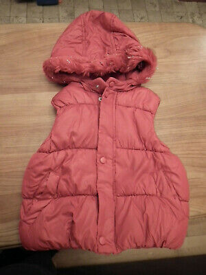 Girl clothes, Sleeveles Hooded Vests, Jacket, Coat, Red, size: 18-23 months (45)