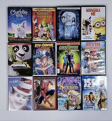 DVD Lot of 12 Kids Children Movies - See Pic's for Movies
