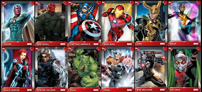 Topps Marvel Collect AVENGERS PERSONALITY POSTERS [12 CARD SET]