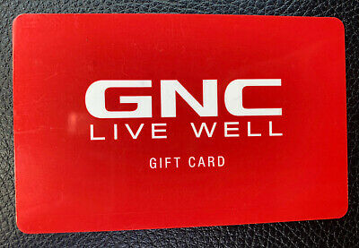 $168.55 GNC Live Well Gift Card - Physical Card