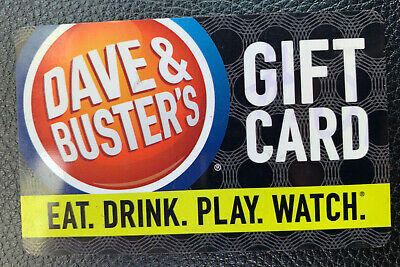$25 Dave & Buster's Gift Card - Physical Card
