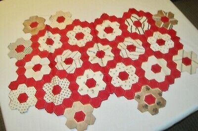 """Vintage sample of quilting: a wall hanging, framed or unframed? About 36"""" x19"""""""