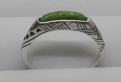 CAROLYN RELIOS POLLACK- 925 STERLING SILVER Green Stone Ring (SIZE: 9) -L@@K!