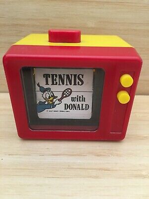Vintage Disney TENNIS with DONALD Flip Motion Toy by illco made in Hong Kong