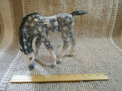 Horse Figurine Ceramic/Porcelain Russian LARGE Dapple Foal Imperial Lomonosov