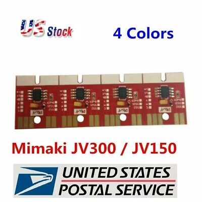 Chip Permanent for Mimaki JV300 / JV150 SS21 Cartridge 4 Colors CMYK US seller