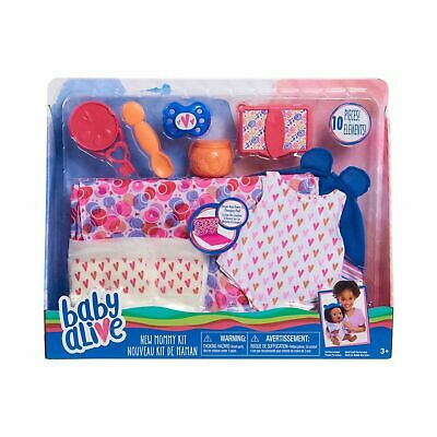 Baby Alive New Mommy Kit Doll Accessories Diaper Bag Set Wipes