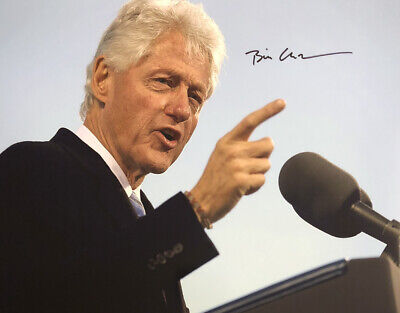 Bill Clinton AUTHENTIC HAND SIGNED 8x10 Photo President Democrat