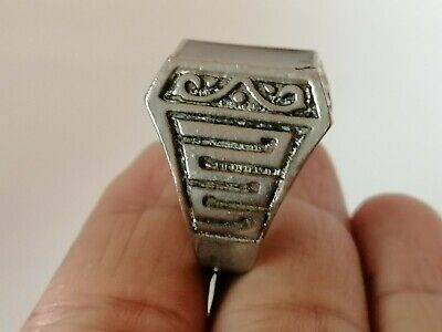 Rare Extremely Ancient Roman Ring Metal Silver Color Artifact Museum Quality