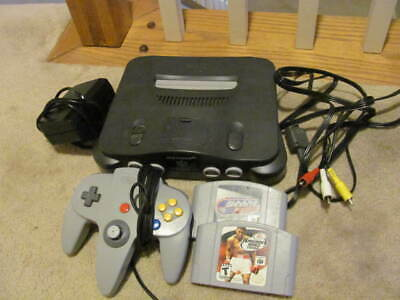 Nintendo N64 Console Bundle w/Jumper Pak + 2 games + controller TESTED AUTHENTIC