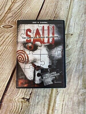Saw: The Complete Movie Collection All 7 movies in a 4-Disc Set DVD's