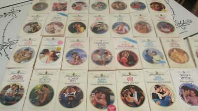25 Harlequin Presents Romance Novels Vintage Lot of Books B #10