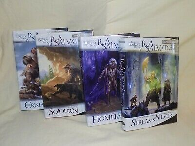 Lot of 4 Legend of Drizzt Books RA Salvatore Hardcover 1 3 4 5 All 1st/1st
