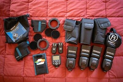 Kit Yongnuo YN560-III Flashes x4 Triggers x3 Rogue Grids Gels for Canon + more