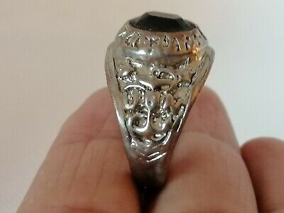Rare Extremely Ancient Roman Ring Silver Color Beautiful Amazing