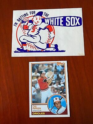 I'm Batting for the White Sox Vintage Decal  VG