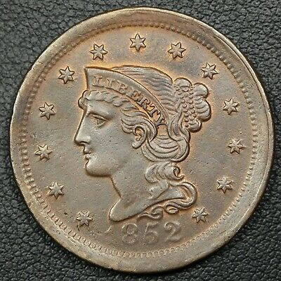 1852 Braided Hair Copper Large Cent