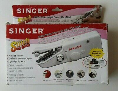 SINGER Stitch Sew Quick Small Portable Hand Held Sewing Machine Travel w/ Manual