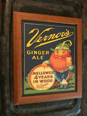 Vernors Vernor's Ginger Ale Advertising Sign Print Detroit Michigan