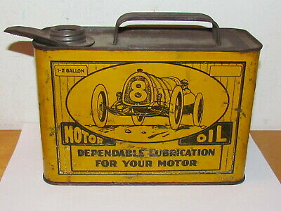 Ultra RARE Vintage Quality Motor Oil 1-2 Gallon Independent Oil Company Can