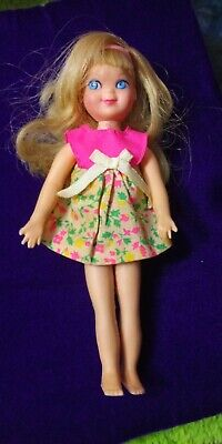 Vintage Tutti Blond Doll With Outfit And Hat Mattel