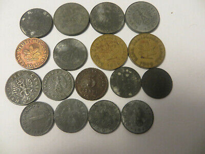 Old German Foreign coin lot. 17 coins in total. nice veriety! lot B18