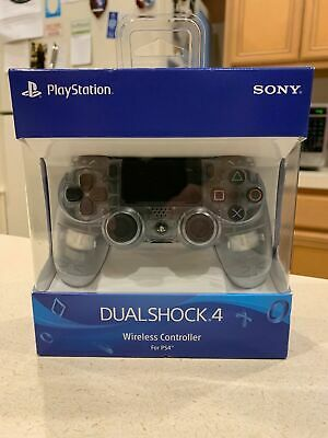 Official Sony PS4 DualShock 4 Wireless Controller CRYSTAL CLEAR Remote NEW