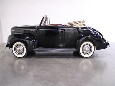 1940 Ford Deluxe  1940 Ford Deluxe Flathead V-8 Manual Convertible  Black