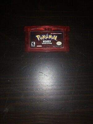 Pokemon RUBY Version Game Boy Advance GBA 2004 Authentic Tested (Dry Battery)