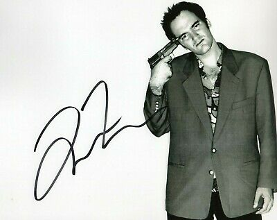 Autographed Quentin Tarantino signed 8 x 10 photo Nice