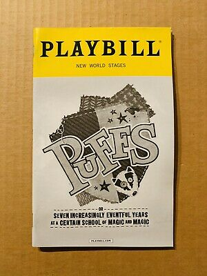 Puffs Off Broadway Playbill New World Stages Harry Potter Hufflepuff
