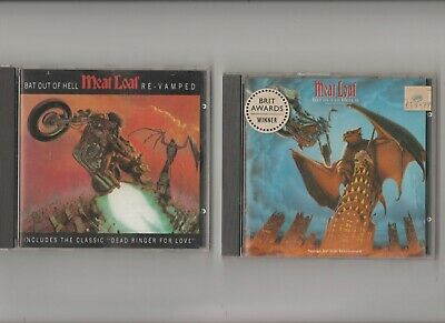 Meat Loaf Bat out Of Hell + Bat Out Of Hell II  : TWO CD Albums