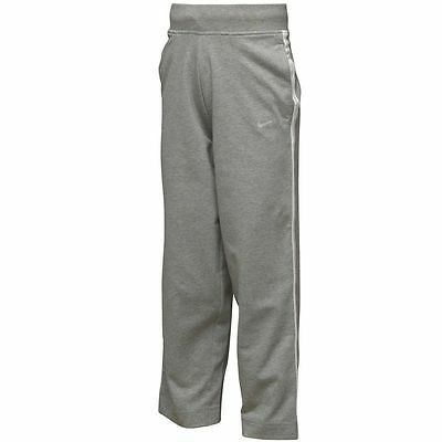 BNWT Girls Nike Marl Grey Jersey Training Pants Jogging Bottoms P.E Games 7-8yrs